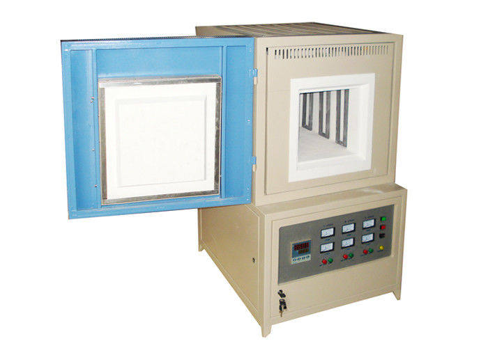 Heat Treatment Industrial Muffle Furnace 1400C Polycrystalline Mullite Fiber Lining